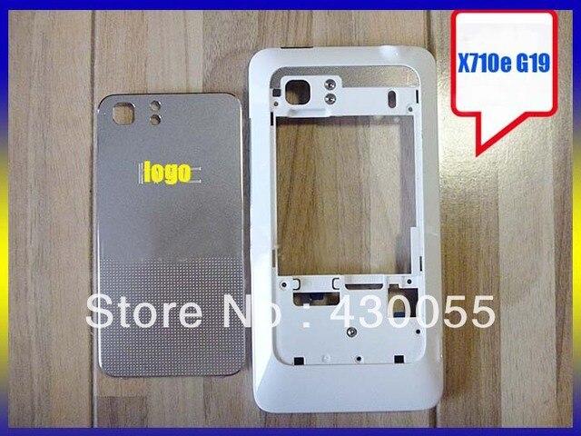 Белый Цвет 100% Новый жилищный Ближний Рамка + Задняя Крышка Батареи чехол + Кнопки Для HTC Raider 4G/X710e/G19 Бесплатная Доставка
