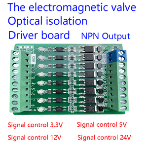 AL-ZARD 8 16 Channel Fully Compatible Solenoid Valve Driver Board 3.3~24V NPN Output Mitsubishi Siemens PLC Power Amplification(China)