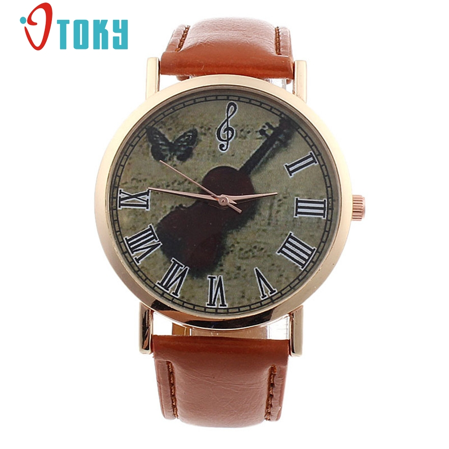 OTOKY Mini watch Music Violin Pattern wristwatch women Girl Fashion casual Quartz watch relogio feminino #30 Gift 1pc