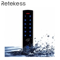 RFID Touch Keypad Access Control System Kit Door Lock 125KHz EM Card Waterproof Metal Case Luminous For Door Entry