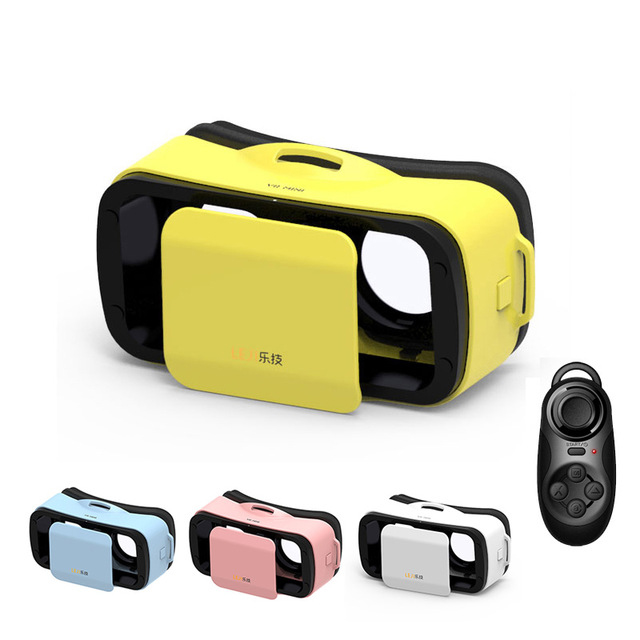 LEJI VR Mini VR Box Pro Virtual Reality Glasses 3D VR Helmet Cardboard 2.0 2 3 for iPhone 6S Plus 4.7 5.5 Smartphone + Gamepad