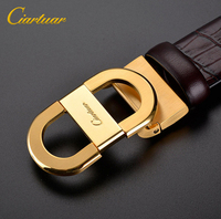 2018 ciartuar luxury new fashion designer men belt high quality genuine leather of cowskin for trousers copper free shipping