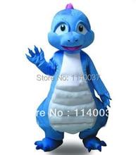 mascot  Blue Dinosaur Dragon Mascot Costume Adult Size Blue Dragon Dinosaur Mascotte Outfit Suit Fancy Dress  FREE SHIPPING