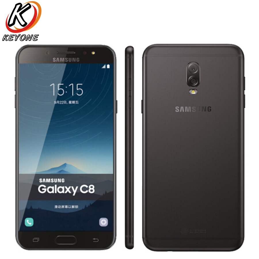 Nouveau Samsung GALAXY C8 C7100 LTE Mobile Téléphone 5.5 3 gb RAM 32 gb ROM Double Caméra Arrière 3000 mah Android Double SIM Téléphone Intelligent