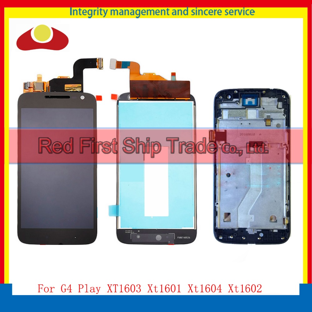 5.0 For Motorola Moto G4 Play XT1603 Xt1601 Xt1604 Xt1602 Full Lcd Display Touch Screen Digitizer Assembly Complete With Frame favourite 1602 1f