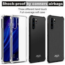 Imak Full Coverage Shockproof Airbag Soft Case TPU Cover for Huawei P30 Pro Matte/Metal
