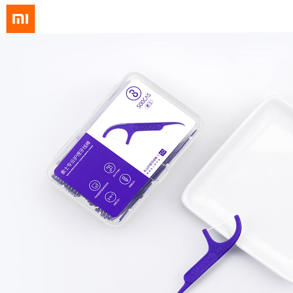 Xiaomi Youpin Soocare Daily Tooth Cleaning Professional Superfine Dental Floss 50pcs In One Box 3pcs/set
