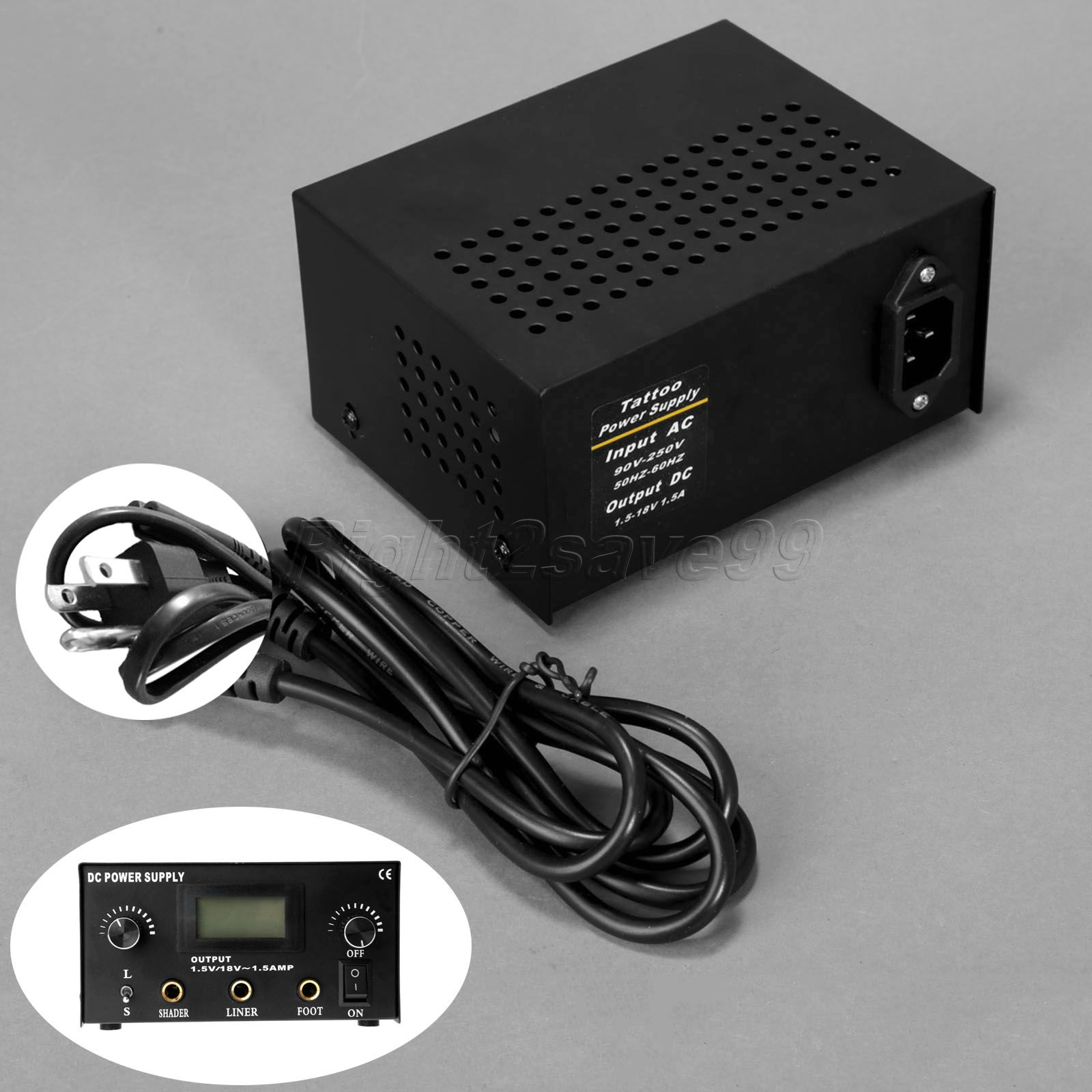 2017 High Quality Digital Dual Cast Iron Tattoo Power Supply Free shipping Tattoo Machine Gun Power Supply with US plug high quality professional mini power supply dual output power supply for tattoo machine tattoo gun free shipping supply