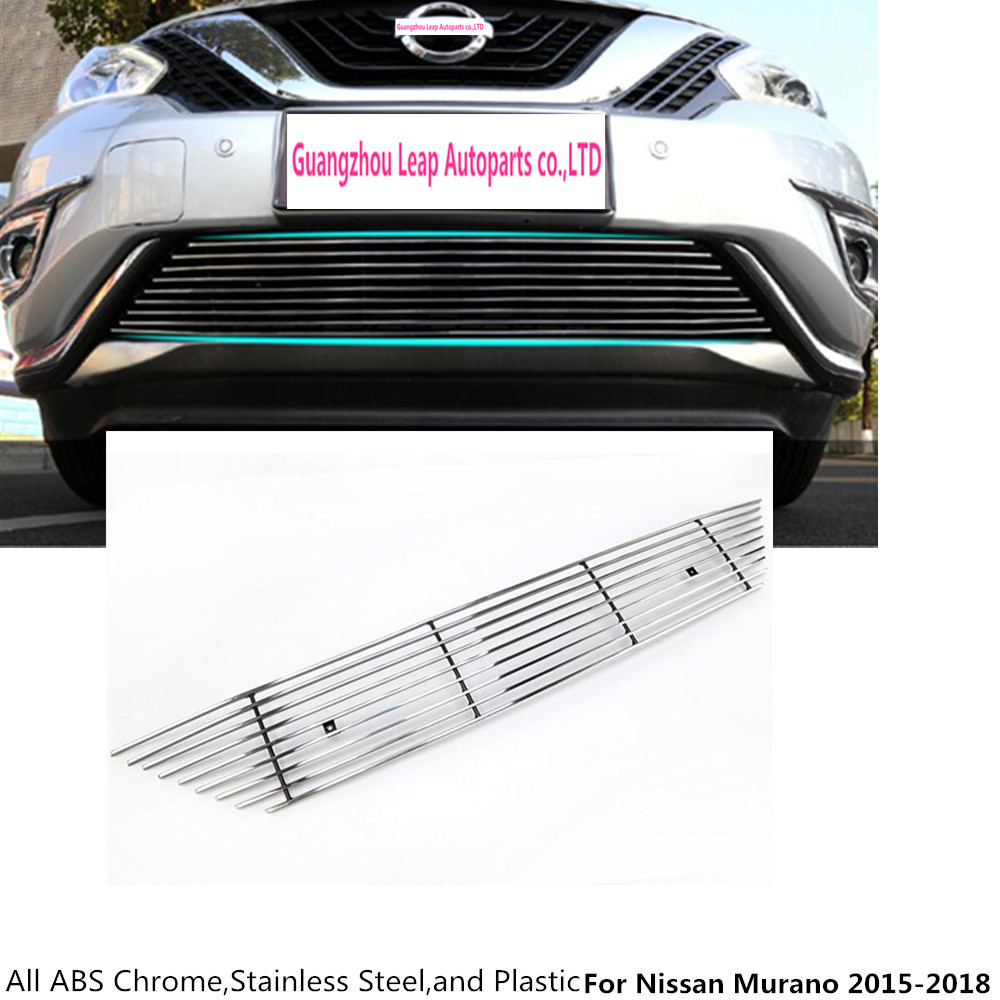 For nissan murano 2015 2016 2017 2018 auto body protection detector stainless steel trim front up