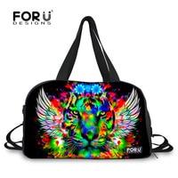 Tiger Testa di Leone Uomini Borse Da Viaggio Grande Capacità Bagaglio a mano per i Viaggi Duffle Bag 3D Animal Print Weekender Tote Bag Handbag