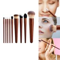 9 шт. палисандр ручкой набор кистей для макияжа косметическая пудра кисть для теней Косметические кисти для макияжа
