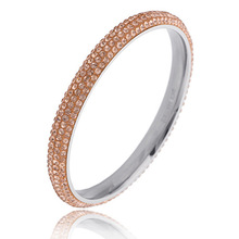 Titanium steel bangle, simple ,4 rows of zircon bracelet, fashion jewelry accessories wholesale,ZJ1018