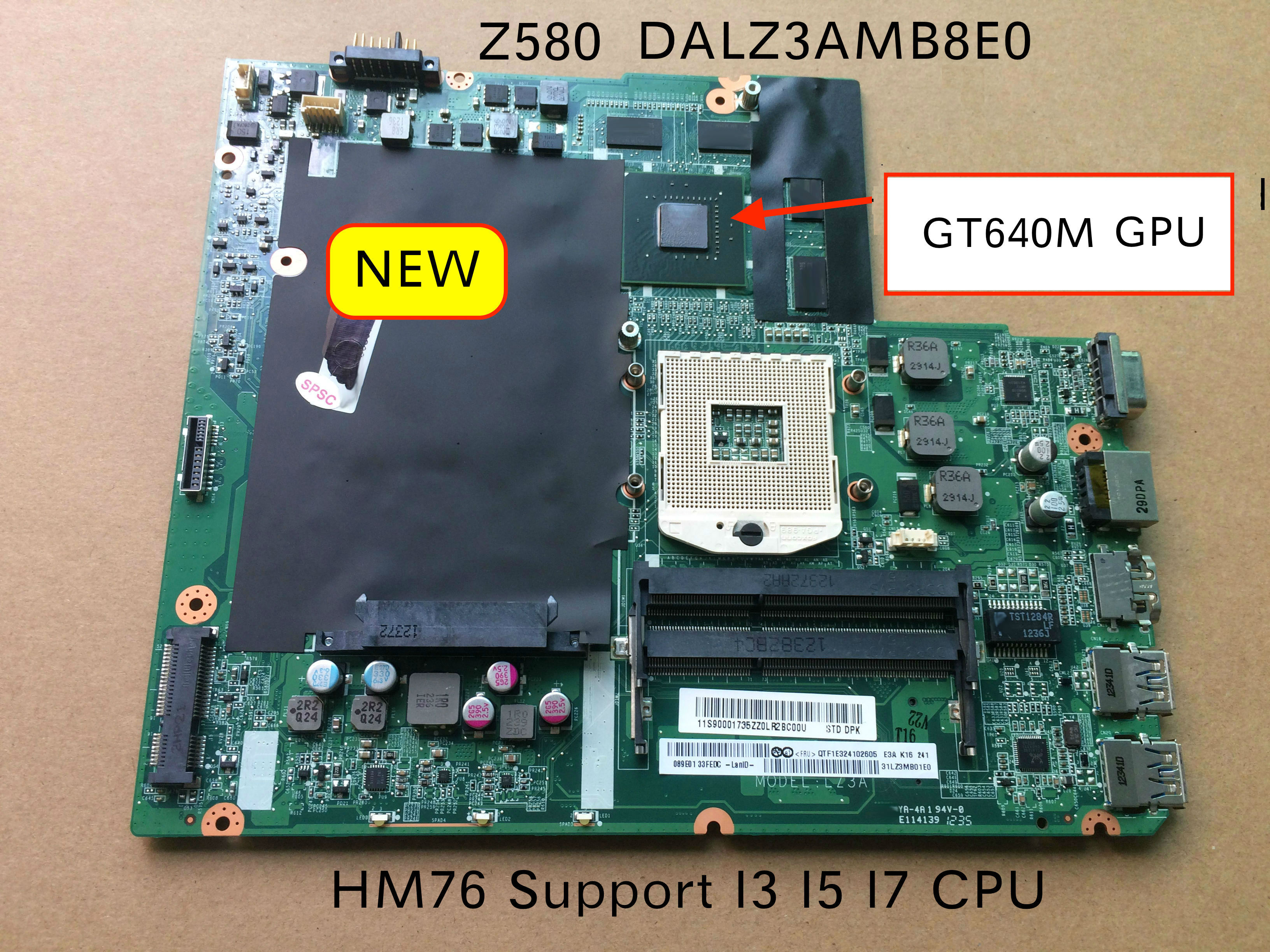 Free Shipping 90000273 DALZ3AMB8E0 mainboard For Lenovo Ideapad z580 Laptop Motherboard with Nvidia GT640M video cardFree Shipping 90000273 DALZ3AMB8E0 mainboard For Lenovo Ideapad z580 Laptop Motherboard with Nvidia GT640M video card