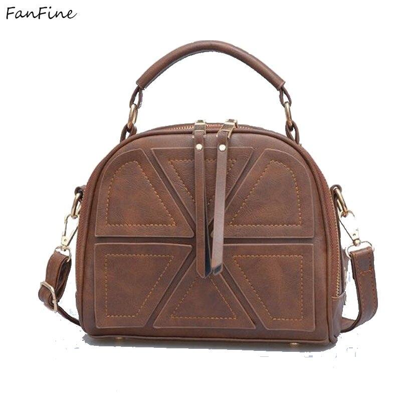 FanFine женщины crossbody сумки через плечо Корейский простой цвет ретро досуг молнии мягкой кисточкой сумку на одно плечо мешки