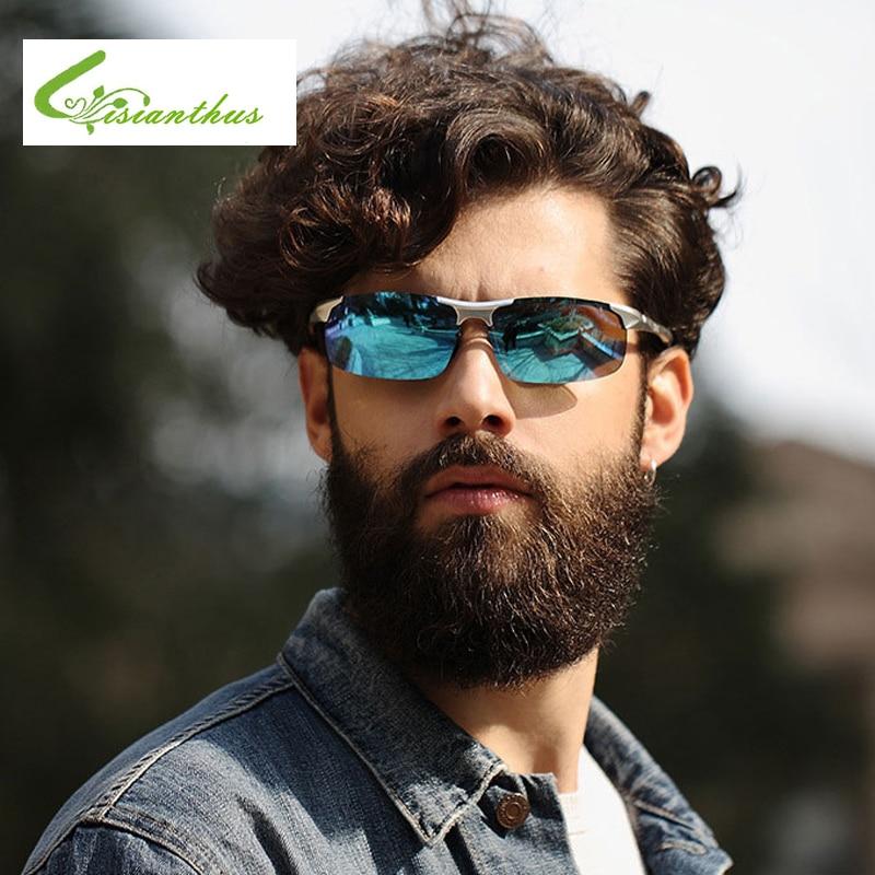2019 vīriešu polarizētās saulesbrilles alumīnija magnija rāmis āra braukšanas saulesbrilles UV400 polarizēta brilles ar brilles Glasse
