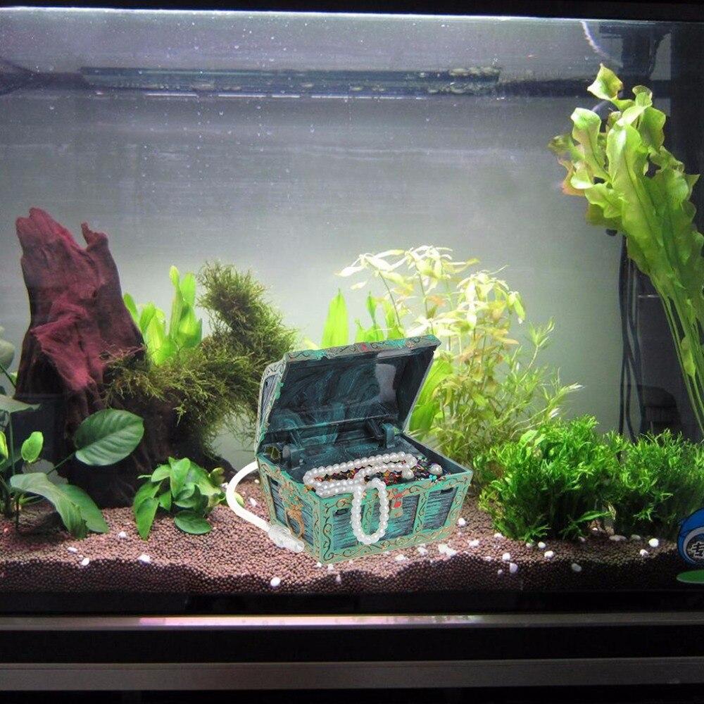 Fish aquarium price in pakistan - Treasure Chest Shaped Aquarium Air Action Ornament Fish Tank Aquascaping Decor China Mainland