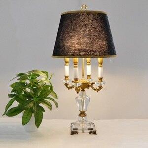 Image 3 - Pha Lê hiện Đại Đèn chiếu sáng phòng ngủ đèn ngủ thời trang cao cấp đèn bàn pha lê Abajur đầu giường khách sạn Đèn bàn K9 Cao Cấp