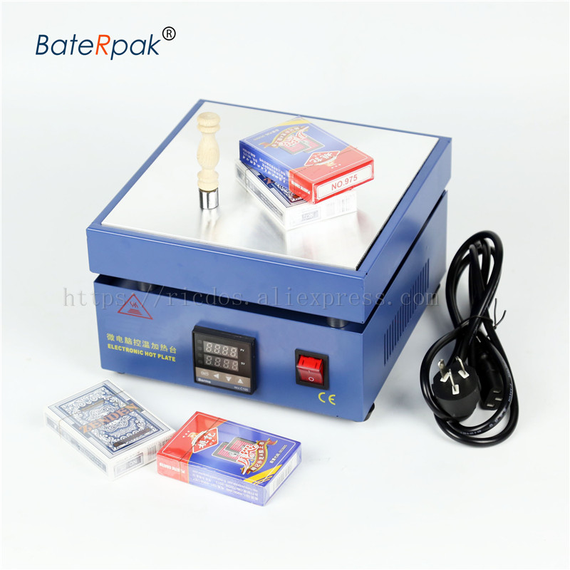 BateRpak Cellophane Wrapping Machine Cigarettes,Poker Box Blister BOPP Film Wrapper Packaging Sealing Machine 110V/220V