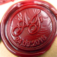 DIY Double Letter Initial Customize Your Logo Name Box Set Personalized Letter Sealing Wax Wedding Wax