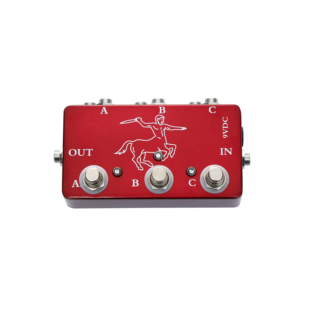 Portable Red Color Effects 3 Loop Switch Pedals Ture Bypass Looper Pedal For Electric Guitar Accessories in Guitar Parts Accessories from Sports Entertainment