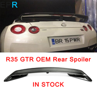 GTR R35 OEM Style Carbon Fiber Rear Spoiler For Nissan Glossy Fibre Trunk Wing Racing Auto Accessories Body Kit