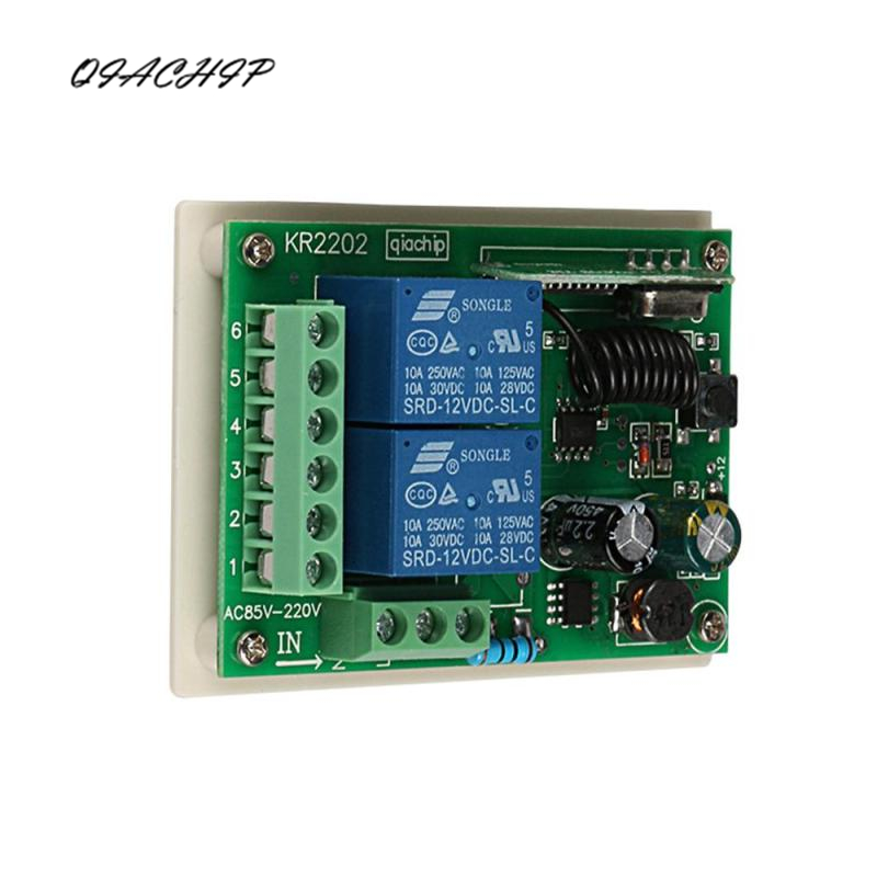 цена на QIACHIP 433Mhz Universal Wireless Remote Control Switch DC relay Receiver Module For 1527 learning code 433 Mhz Transmitter Z2