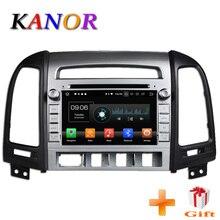 KANOR 1024*600 Octa Core 4g Android 8.0 2din Car Radio DVD GPS For Hyundai Santa Fe 2006-2012 Headunit Radio Cessette recorder