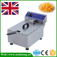 Stainless Steel Electric Deep Fat Potato Chip Fryer Deep Fryer Commercial Basket French Fry Machine