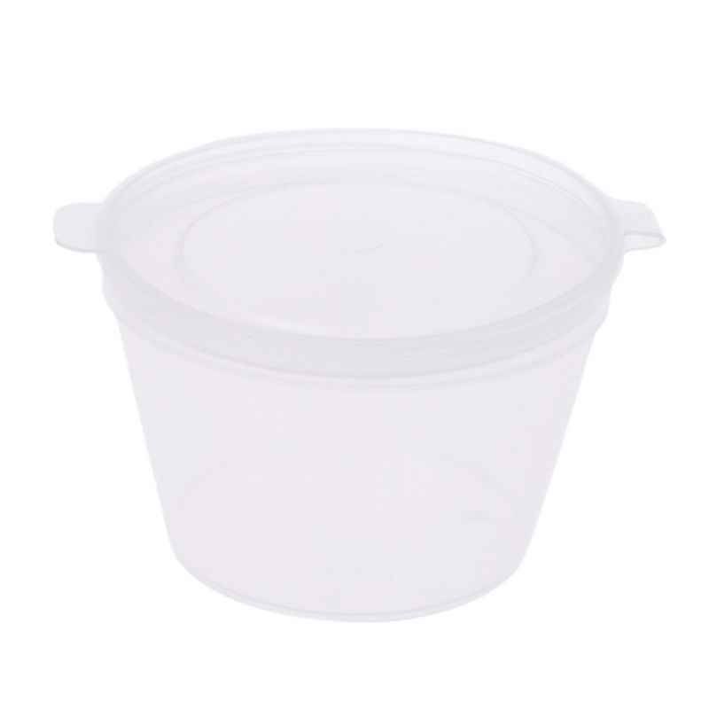 10pcs Disposable Clear Plastic Sauce Chutney Cups Slime Storage Container Box With Lids 80ml