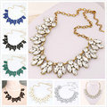 Star Jewelry Big Sale 2016 Vintage Jewelry Bijoux Crystal Flower Chokers Necklace Maxi Statement Necklaces & Pendants Woman Gift
