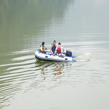 8 passager inflatable rubber boat 400cm/420cm/520cm/560cm rofting fishing rubber boat with CE and motor