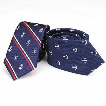 Luksusowy męski wydruk kotwicy wzór krawaty 6CM męskie wąskie krawaty tkanina żakardowa z poliestrem krawat na wąską szyję ślub Corbata Gravata krawaty tanie i dobre opinie YISHLINE Chłopcy WOMEN Moda Poliester SILK Dla dorosłych Szyi krawat Jeden rozmiar STKR2362-2363 Drukuj Factory Seller have factory