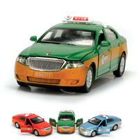 Red Flag Taxi Car Model Alloy Speelgoed Auto Car Model Children Sound Light Pull Back Taxi Toy Model Car Diecast Kids Toys Boys