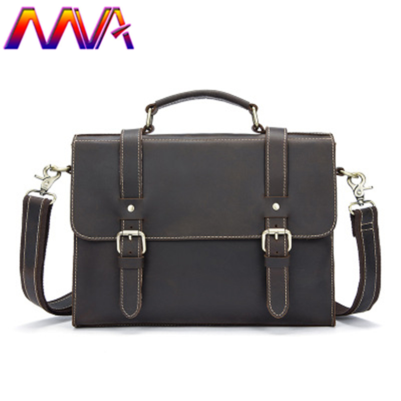 MVA Cowhide leather men briefcase for fashion business men shoulder bag men leather briefcase with genuine leather women handbag new men s bag genuine leather briefcase men classic business briefcase handbag office shoulder bag for men cowhide bags li 1128