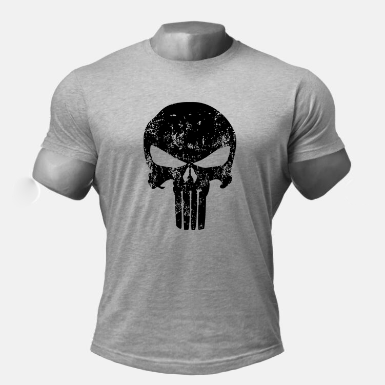 425ff082f0bf06 Skull Punisher Gyms t shirt muscle shirt Trends in 2018 fitness cotton  brand clothes men bodybuilding