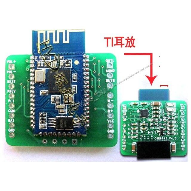 CSR8645 APT-X Hifi Bluetooth 4.0 Placa Del Receptor 3.7 V/4.2 V de Litio Bate de Potencia