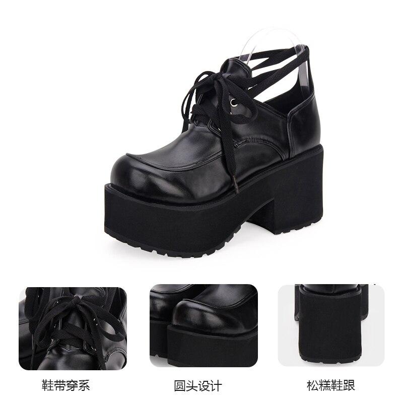 De Chaussures Muffin Pu8681 Printemps Gothique 8cm Mode Femmes Lolita Douce Dentelle Grand Punk Et Automne Vent D'origine Princesse tête 0OmN8nyvw