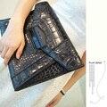 La tendencia de los bolsos femeninos de la moda de las mujeres día bolsa de embrague bolsa de embrague de Cocodrilo sobre de embrague bolsa grande