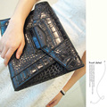 The trend of female bags fashion women's day clutch for Crocodile clutch envelope bag clutch bag big bag