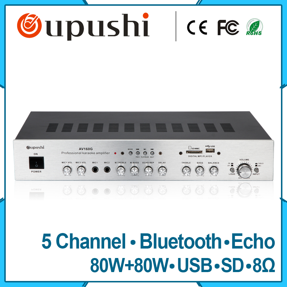oupushi AV160G Hifi Stereo Audio Amplifier Home Karaoke amplifier With Bluetooth 5.1 аксессуар сетка и режущий блок braun series 3000