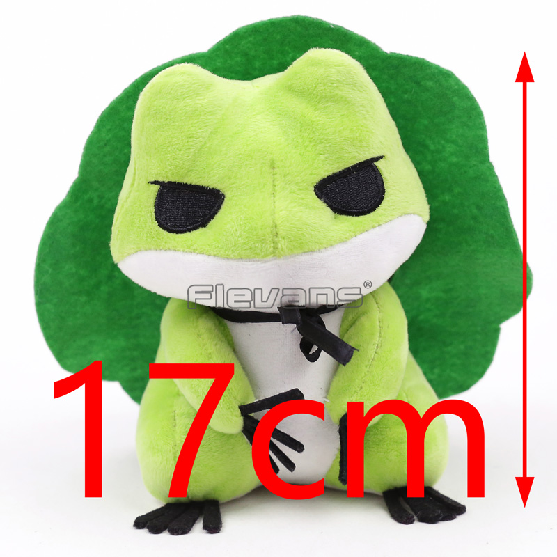 Cute Travel Frog Plush Toy Japanese Game Cartoon Frog Soft Animals Dolls Birthday Xmas Gift for Kids