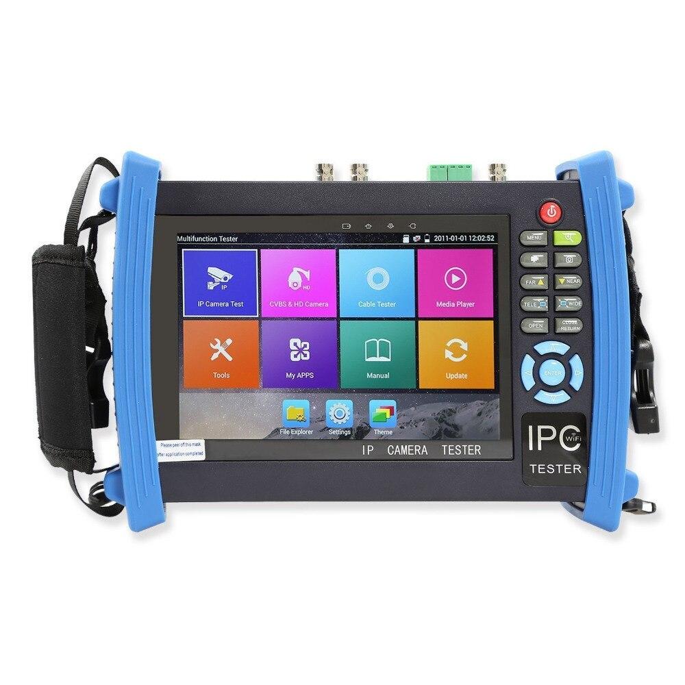 7 pouce 6 Dans 1 H.265 4 k IP CCTV Testeur Moniteur HD AHD CVI TVI SDI CVBS Caméra 8MP 5MP ONVIF WIFI TDR pour RJ45 Entrée HDMI POE 12 v