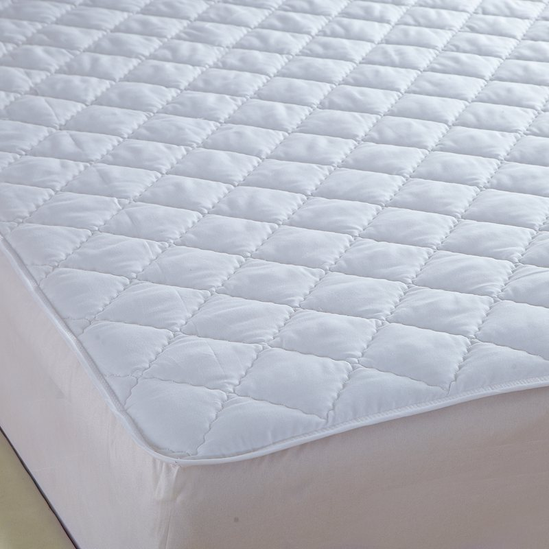 white quilting bed pad fitted sheets linens sanding polyester fabric multi-size mattress protection cover 7