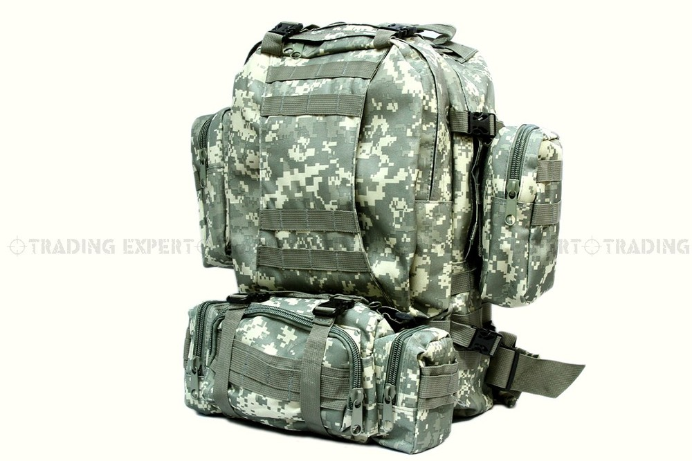 cg-01 Intelligent Outdoor Military Tactical Backpack Us Army Tactical Molle Assault Backpack Bag Multicam Acu Dark Green Bk Sports & Entertainment