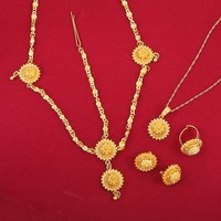 Cute Baby Girls Ethiopian Jewelry Sets 24k Gold Plated Sets For African Ethiopian Eritrean Habesha Jewelry