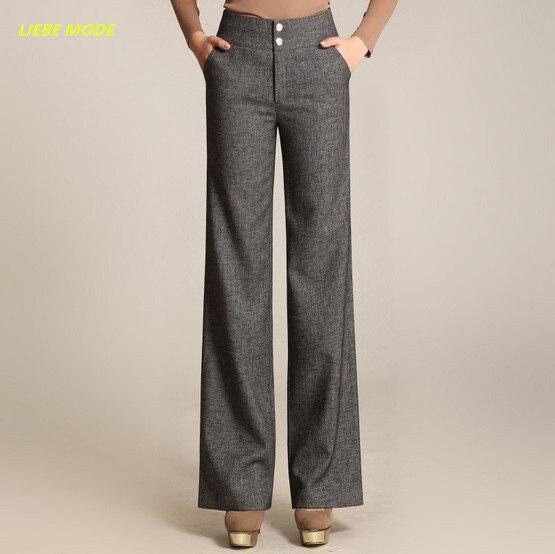 d5e7fbc1b2adf 2017 Spring Autumn Women s Wide Leg Pants Loose OL Fashion High Waist Plus  Size Women Palazzo Pants Long Plus Size 4XL 5XL 6XL