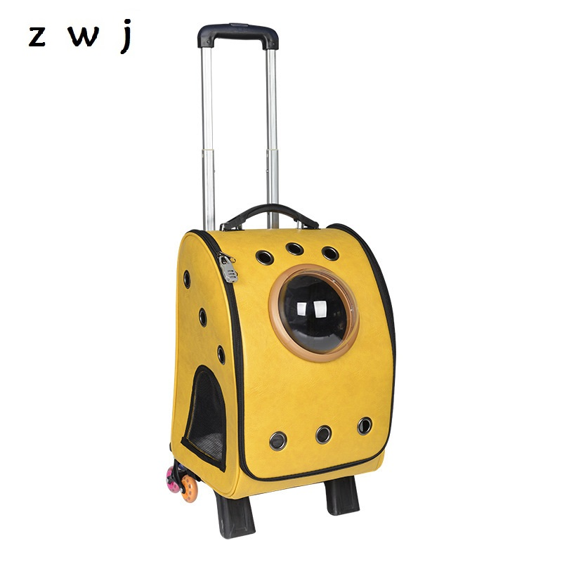 Pet carry backpack Dog cats trolley bag rolling luggage for pets Pet carry backpack Dog cats trolley bag rolling luggage for pets
