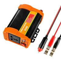 600W Full Power Inverter DC 12V to AC 220V Converter 5V/2.1A Dual USB Charger Universal Outlet with Fuse for Car
