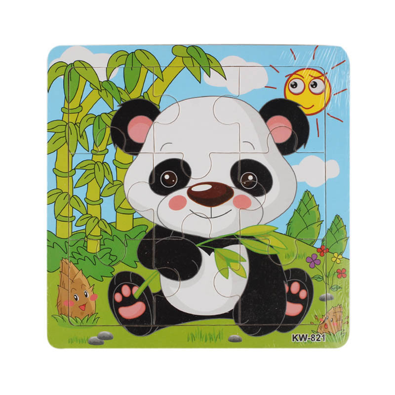 Kids Preschool Toys 9pcs Wooden Animals Jigsaw Toys Children Funny Educational Games Puzzle Toys Early Education Toy Gifts #YL