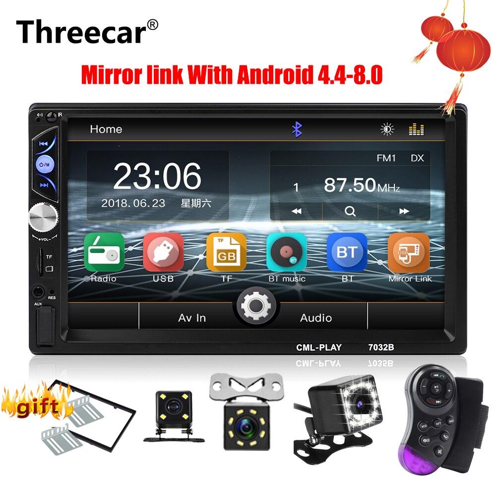 Threecar 2 din Car Radio 7 HD Stereo Multimedia Player SD USB Mirror Link Autoradio MP3
